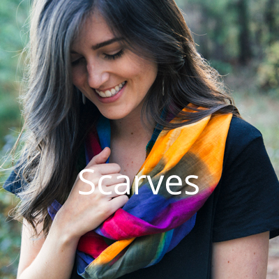 Buy a scarf for yourself, provide an income for a woman in need
